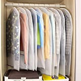 10st. Kleidersäcke Kleiderhülle transparent 120/100 cm lang Staub Schutz für Mantel Anzug Daunenjacke Rock Abendkleid Aufbewahrung Sack mit Reißverschluss, wasserdicht, dick, Ordnung im Schrank (10)