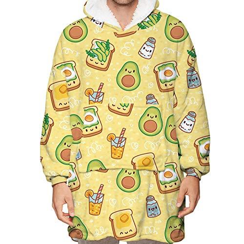 Obst Digitaldruck lose warme Nerz Decke Pyjama kann auf beiden Seiten getragen Werden, geeignet für Familienkleidung und Wärme im Freien