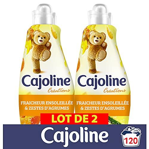 Cajoline Adoucissant Concentré Fraîcheur Ensoleillée 1500 ml (Lot de 2x60 Lavages)