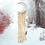 Asecinc Boho Dream Catcher Handmade Tassel White Gold Feather Dreamcatcher for Wall Hanging Home Decoration Wedding Decoration Ornaments Craft