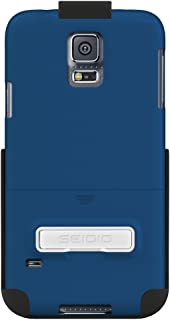 Seidio SURFACE Case with Metal Kickstand and Holster Combo for Samsung Galaxy S5 - Retail Packaging - Royal Blue