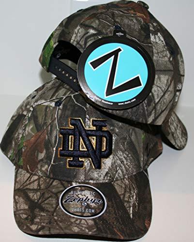 Zephyr University of Notre Dame ND Fighting Irish Remington Hunting Camo Adult Mens/Womens/Youth Adjustable 100% Cotton Baseball Hat/Cap