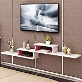 TLMYDD Mueble de TV de Pared WiFi enrutador Estante Set-Top Box Soporte Creativo Caja de Almacenamiento Rack TV Consola Flotador Estante (Color : C)