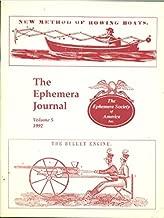 The Ephemera Journal, Volume 5 , 1992
