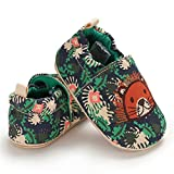COSANKIM Infant Baby Boys Girls Slipper Soft Sole Non Skid Sneaker Moccasins Toddler First Walker Cirb House Shoes, 18-24 Months Toddler, 01 Green Lion Baby Slipper
