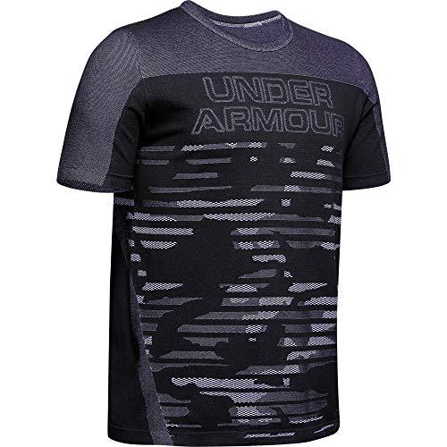 Under Armour UA Seamless SS, Camiseta de Manga Corta para Hombre, Camiseta para Correr Hombre, Negro...