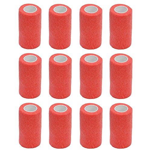 Haftbandage–12Rollen x 10cm x 4,5m, Erste Hilfe, Sport, Bandagen, COBOX Tierarztverband selbstklebende Bandagen, Orange