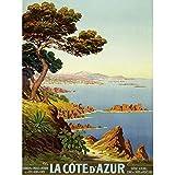 De Tanguy Cote D'azur France Travel Advert Art Print Canvas