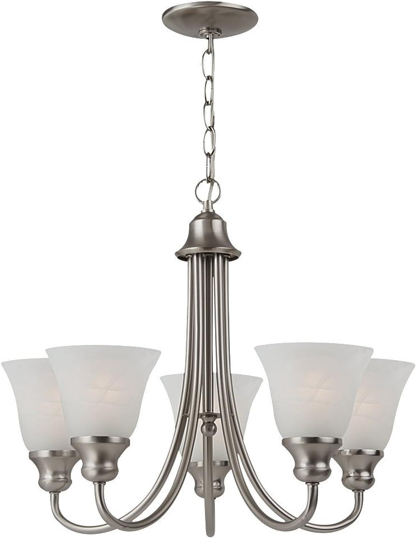 Sea Gull Lighting 35940-962 Windgate Five Light Chandelier, Brushed Nickel Finish