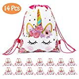 CXWILL Unicorn Party Favors Bags 14 Pcs Drawstring Gifts Bags for Kids Party...