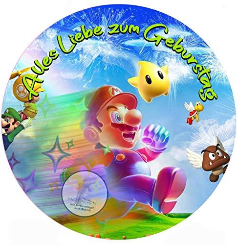 Super Mario, Essbares Tortenbild, Tortenaufleger Ø 20cm - 0235W