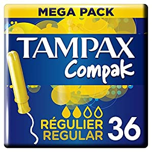 Tampax Compak Regular Tampons with Plastic Applicator