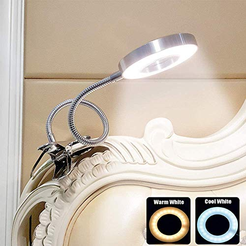LED USB Clip op leeslampje voor boeken, slaapkamer, bureaulamp met klem, oogbescherming. Boekenlampje voor het lezen in bed, Kinderen