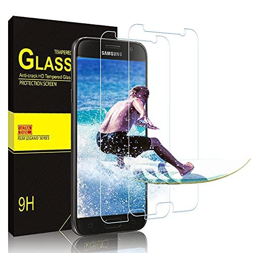 wsky [2 Stück] Panzerglas für Samsung Galaxy S7, HD Ultra-klar Upgrade, Anti-Kratzer, Blasenfreie, Anti-Fingerabdruck Und Öl, 9H Härte Panzerglas Displayschutz für Samsung Galaxy S7