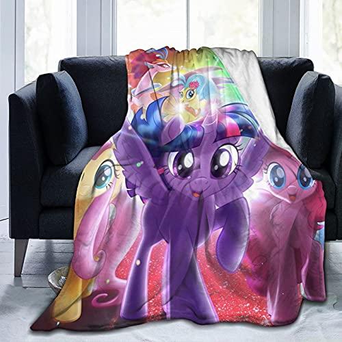 Manta de forro polar de microfibra para cama y sofá de My Little Pony, de dibujos animados, de My Little Pony, muy suave, para todas las estaciones, 200 x 150 cm