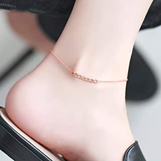 CXQ Fashion Temperament Feet Simple Rose Gold Chain Foot Ring Jewelry Couple Accessories Gift