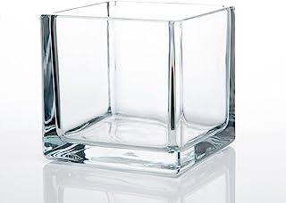 "Richland Square Glass Cube Vase 5"" Set of 12"