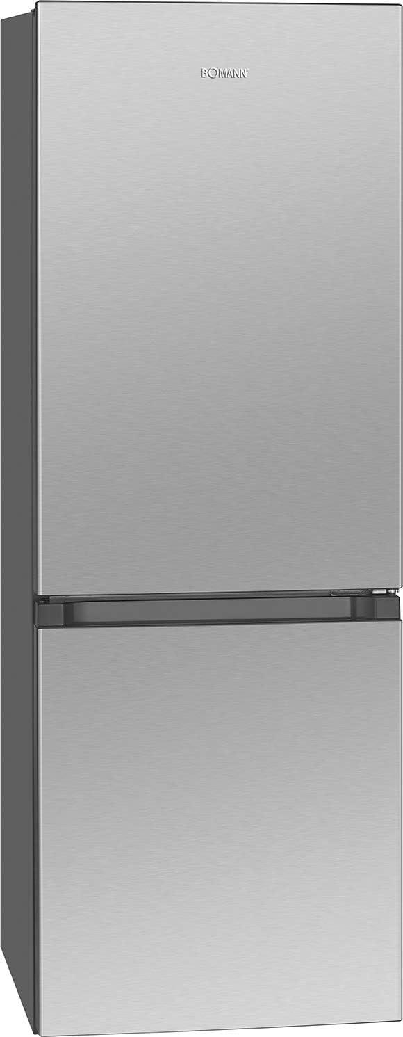 Bomann 320,2 kg/combinación de refrigeración/congelador / 122 l refrigeración, 43 l congelación, descongelación automática, 160 kWh/aspecto de acero inoxidable