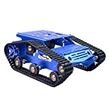 Robot Smart Car Chassis Kit Full Aluminum Alloy Tank Mobile Platform with 2WD Motors for Arduino/Raspberry Pi Robot Projects - Free Tools
