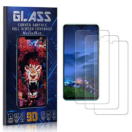 MelinHot Displayschutzfolie für Huawei P30 Lite, Anti Fingerabdruck, Ultra Dünn Blasenfrei Schutzfolie aus Gehärtetem Glas für Huawei P30 Lite, 3 Stück