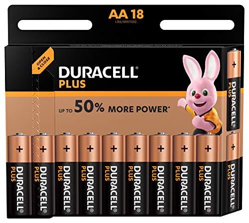 Duracell Batterie Alcaline Plus Power AA, Confezione da 18