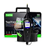 JDiag P100 Probador de Circuito Eléctrico Automotriz, Analizador de Circuitos Herramienta de Diagnóstico del Sistema Voltímetro LCD, Sonda de Power Scan Original para Coche y Camiones 0V - 70V