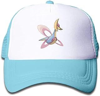 MWHprint Children`s Trucker Hats for Boys&Girls Cool Adjustable Kids Cap, Pokemon Cresselia, Black, Sky Blue, Pink