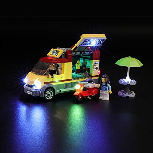 BRIKSMAX Kit de Iluminación Led para Lego Cami&Oacuten de Pizza, Compatible con Ladrillos de Construcción Lego Modelo 60150, Juego de Legos no Incluido