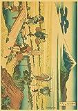 HuGuan PóSter Y Estampados 60x90cm Estilo Antiguo japonés Adecuado para la decoración del hogar T13 Lienzo Pintura Pared Arte Cuadros Sin Marco