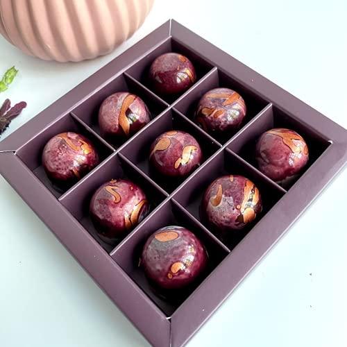 Peanut Butter & Caramel, zuckerfreie Pralinen, Box 9er - diabetiker Schokolade