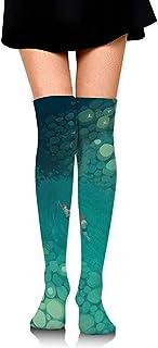 Jesse Tobias, Calcetines hasta la rodilla Calcetines largos de natación para niños Calcetines de compresión de media de arranque para mujeres SOCKS-0156
