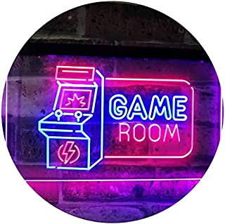 Game Room Arcade TV Man Cave Bar Club Dual Color LED Neon Sign Blue & Red 400 x 300mm st6s43-j2850-br