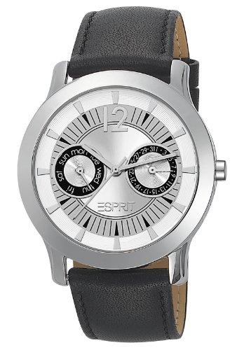 Esprit Damen-Armbanduhr Carmel Sport Black Analog Quarz Leder ES105182001