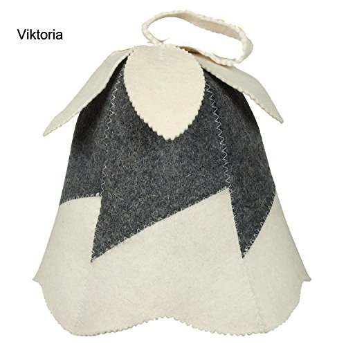 """Preisvergleich Produktbild Saunahut """"Viktoria"""" aus Filz (Filzkappe,  Saunamütze)"""