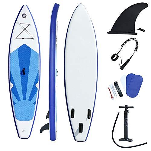 QIANG Tabla De Stand Up Paddle Surf Inflable (6 Pulgadas De Grosor) con Accesorios Premium Sup Aleta Inferior para Remar Control De Surf Cubierta Antideslizante | Barco De Pie para Adultos Jóvenes