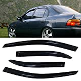 Deebior 4pcs Out-Channel Style Sun Rain Guard Vent Shade Side Window Visors Wind Deflectors Compatible With Toyota 1993-1997 Corolla Sedan