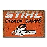 Stihl Chain Saws Vintage Retro Tin Sign Metal Sign Metal