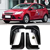 Nologo Royal Star TY Mud Flaps Coche Set 4 Piezas de vehículos Guardabarros Guardabarros Guardabarros Delantero y Trasero Suave ABS Mudflaps for Ford Focus Hatchback 3 MK3 2011-2016
