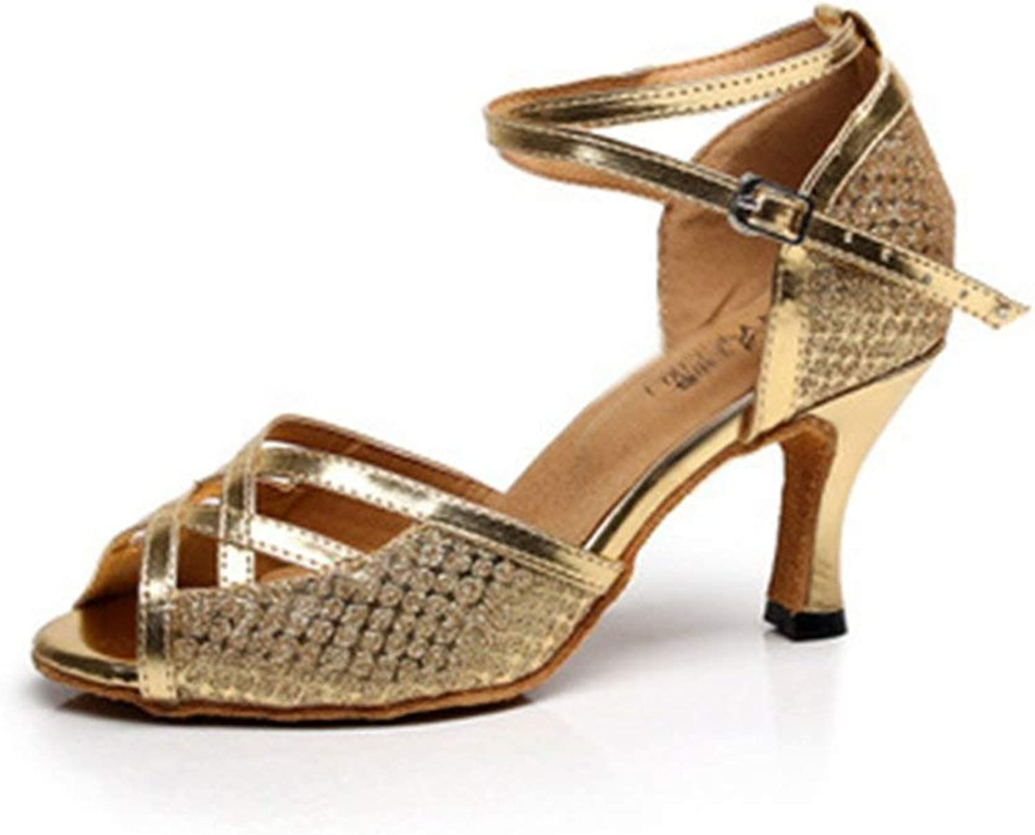 Beautiful - Fashion Women's Glitter Latin Salsa Tango Heel Dance Sandals Morden Ballroom Wedding Party Dancing shoes