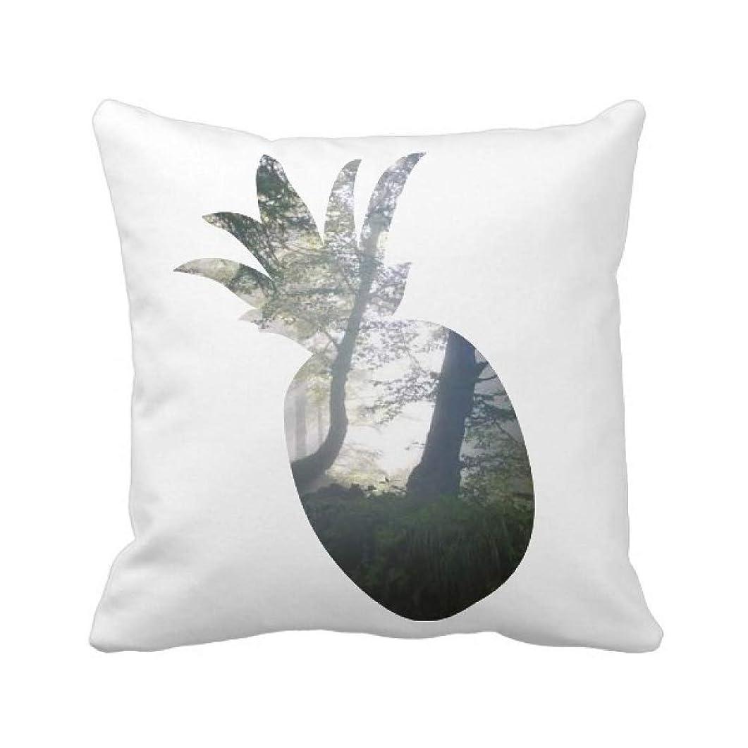 作曲家ガチョウトライアスリートグリーン光科学は自然の風景の林業 パイナップル枕カバー正方形を投げる 50cm x 50cm
