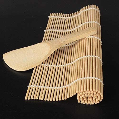 EP OWX Hochwertige Sushi Maker Kit Bambus Reis Roll Form Küche DIY Mould Roller Matte Und Reis Paddel Set C3010