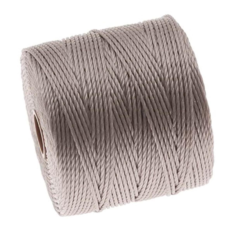 Beadsmith XCR-4251 Super-Lon Cord 18 Twisted Nylon Spool, Silver, 77 yd