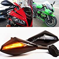 カバーとモールディング MOTORCYCLE LEDウインカーREAR VIEW苦戦マウントスポーツバイクサイドレーシングMIRRORSフィット感のためのCBR ZRX ZZR ZX YZF GSXR GSX R6のR 6