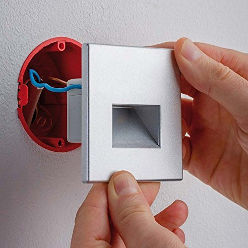 Licht-Trend LED Wandeinbauleuchte Box 116 Lumen Alu-Matt inkl. Leuchtmittel