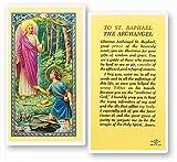 To Saint Raphael The Archangel Prayer Laminated Holy Cards (Set of 5)