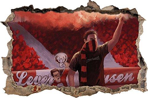 Ultras Leverkusen, 3D Wandsticker Format: 92x62cm, Wanddekoration