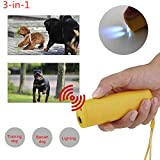 XZJB Anti Bellen Gerät, Anti Bellen Gerät Für Hunde Ultraschall LED Hund Repeller Trainer Haustier Hund Mit 3 Modi Für Training Drive Dog Flash Light Gelb 1pc