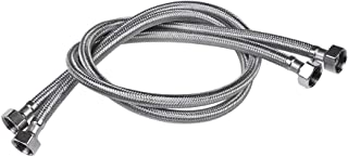 Vataler Faucet Line Connector Braided 304 Stainless Steel Supply Hose 1/2