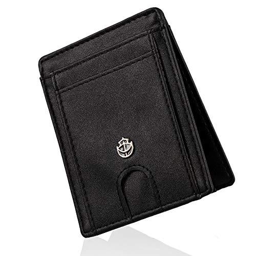 Noah Noir Slim Wallet mit Magnet und Münzfach (9 Kartenfächer) Geldbeutel Männer (Shark)