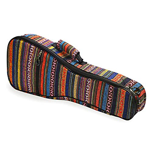 CAHAYA Concert Ukulele Bag Ukulele Case 23 Inch Soft 0.35 Inch Thick Cotton Padded with Adjustable Straps (23 inch)